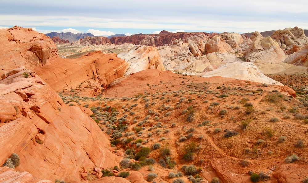 On the road to White Domes, Valley of Fire State Park, Névada