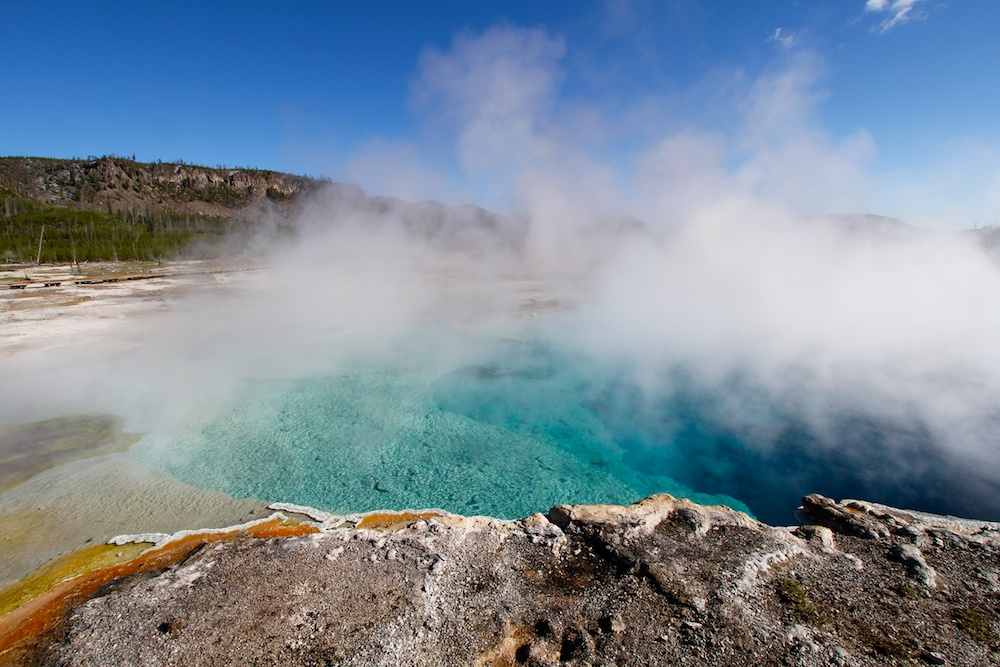 Sapphire Pool+Biscuit Basin+Yellowstone National Park+Wyoming