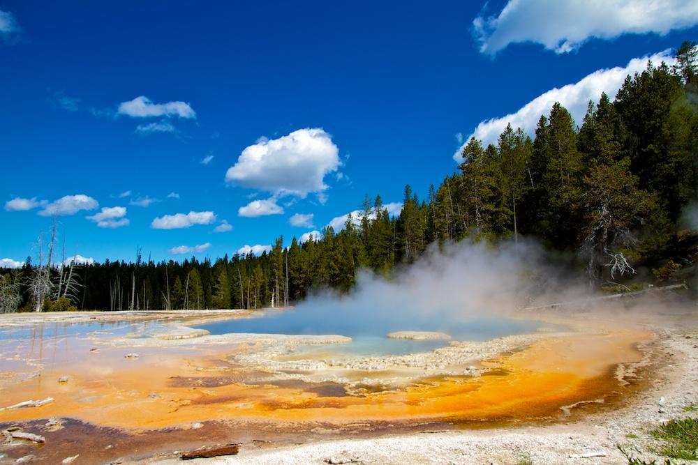 Solitary Geyser+Upper Geyser Basin+Yellowstone+Wyoming