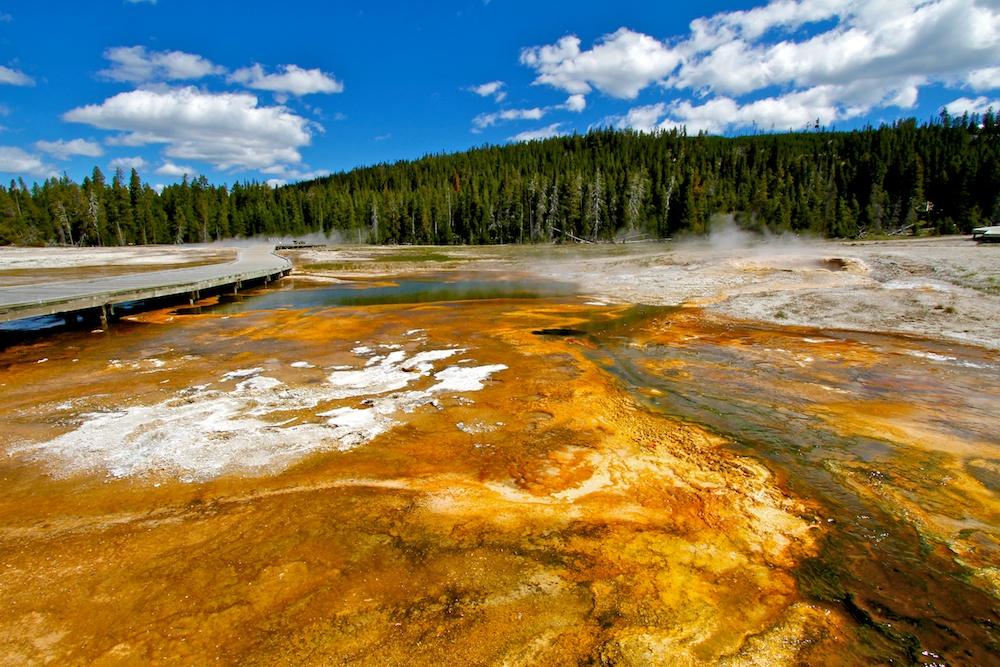 Upper Geyser Basin+Yellowstone National Park+Wyoming
