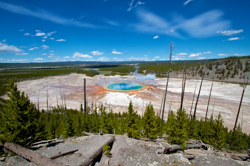 Grand Prismatic+Panoramic+Yellowstone+Wyoming