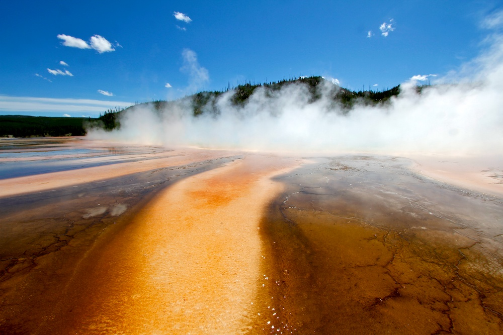 Larmes du cyclope, Grand Prismatic, Yellowstone