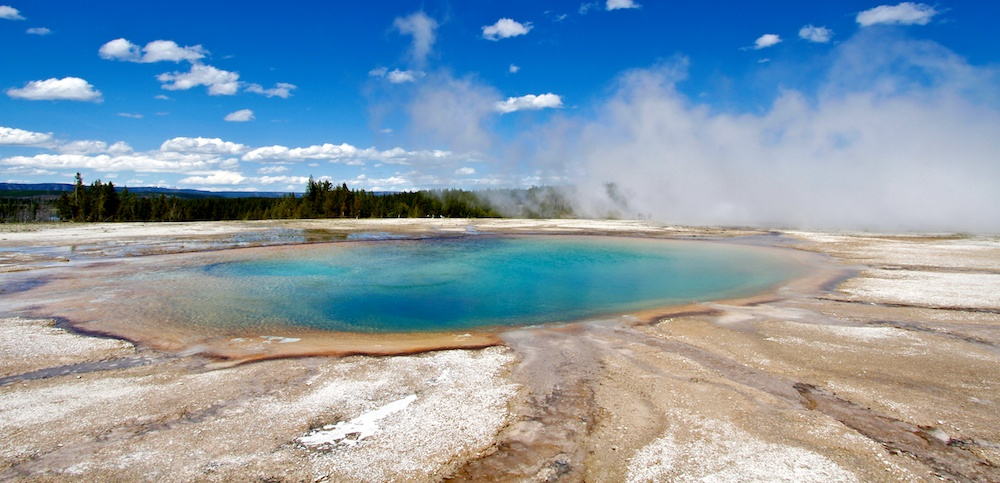 Turquoise Pool+Midway Geyser Basin+Yellowstone+Wyoming