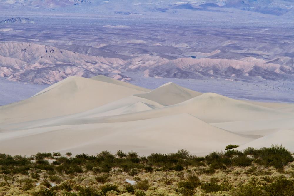 Mesquite Flat Sand Dunes depuis Stovepipe Wells - Death Valley - Californie