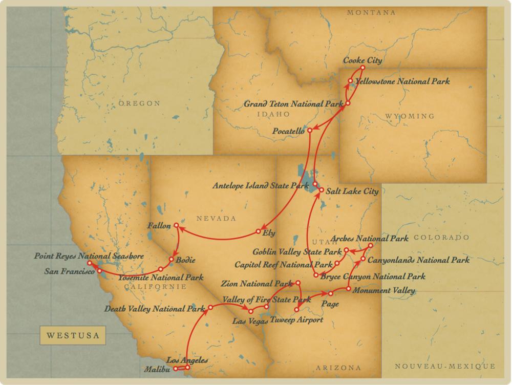 Roadtrip de quatre semaines dans le wilderness américain