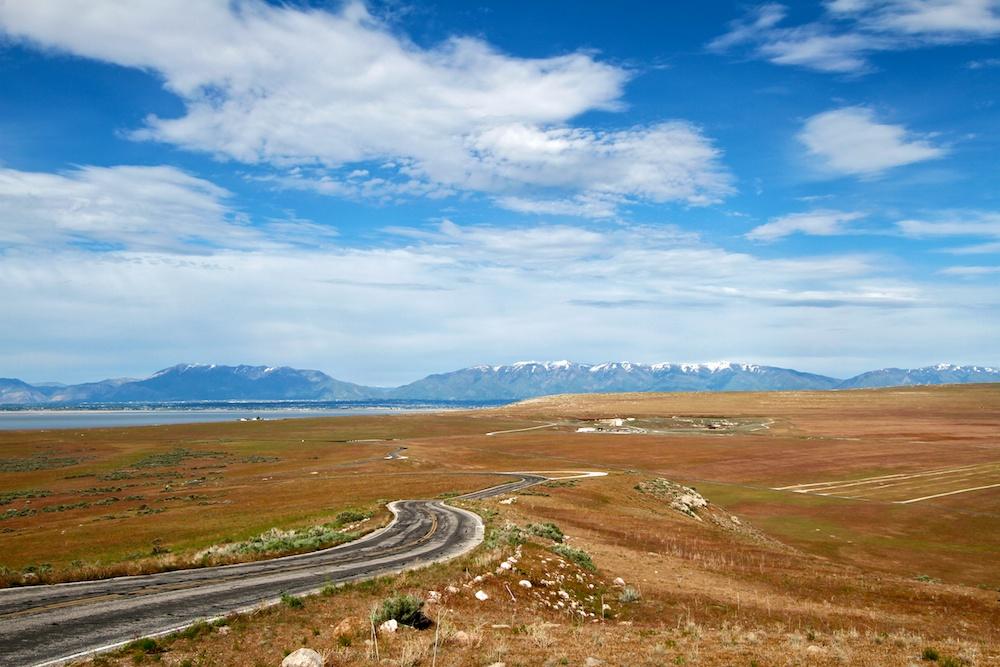Buffalo Point+Road+Antelope Island State Park+Utah