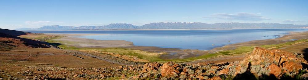 Wasatch Range+Antelope Island State Park+Utah