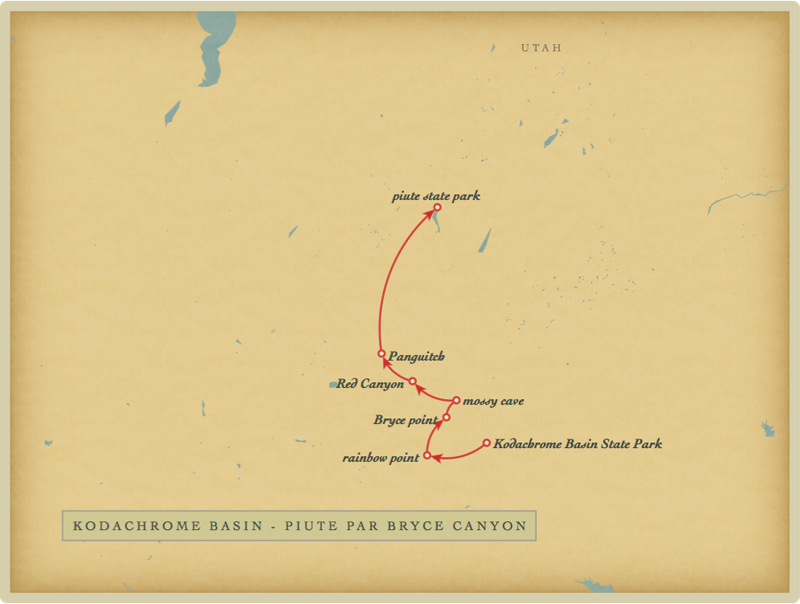 Kodachrome Basin - Piute par Bryce Canyon