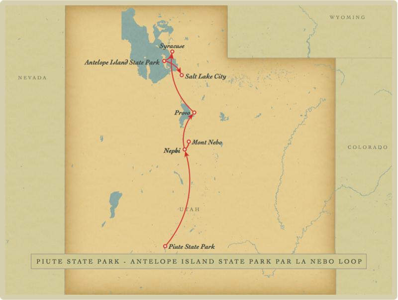 Roadtrip+Piute+Nebo loop+Antelope Island+Salt Lake City+Utah