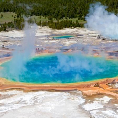 Grand Prismatic+Panoramic+Yellowstone