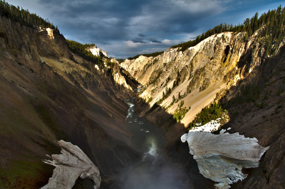 Brink of lower falls+Yellowstone River
