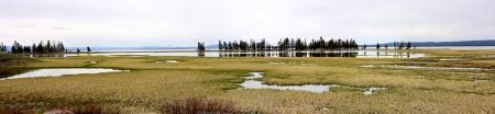 Yellowstone Lake+Fishing Bridge
