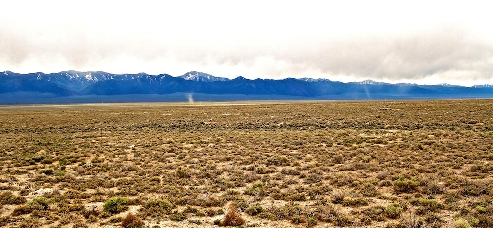 Tourbillons de poussiere+dust devils+US-50W+Nevada