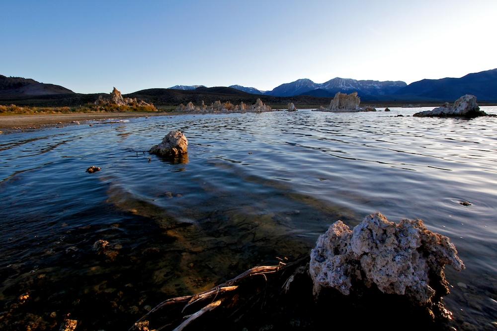 Coucher de soleil+lac Mono+Californie