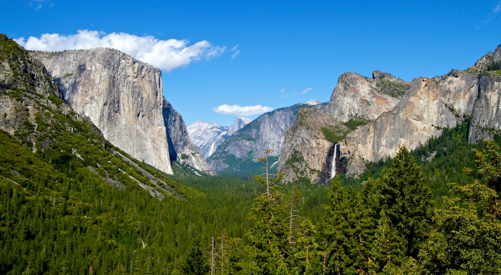 Tunnel View, El Capitan, Hald Dome, Bridalveil Fall