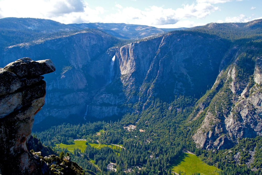 Glacier Point, Upper Fall, Lower Fall, Yosemite, Californie