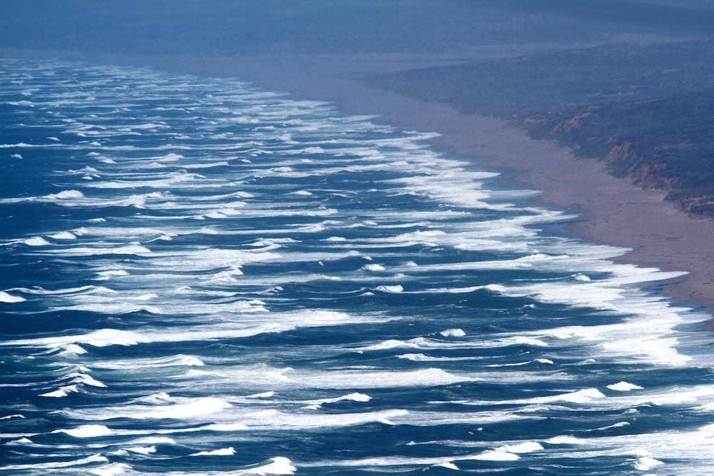 Swell, waves, Point Reyes Beach, California