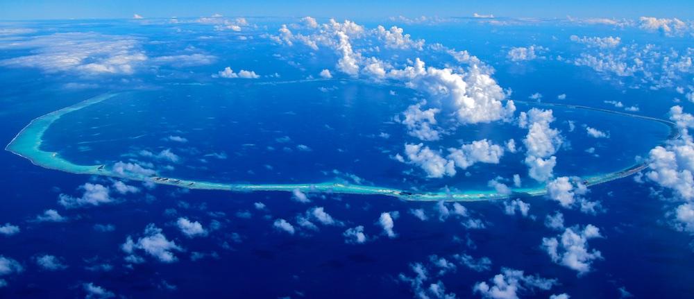 Photographie aerienne, Ahe, Tuamotu