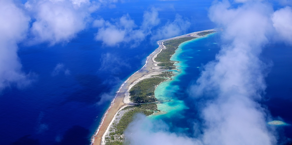 Ahe, Tuamotu, photographie aérienne