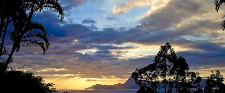 coucher de soleil, Moorea, Tahiti