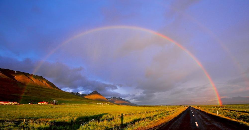Arc-en-ciel, Islande, rainbow, Iceland, landscapes