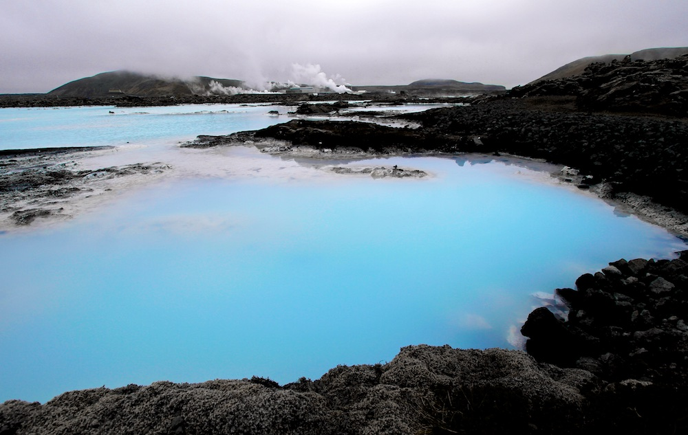 centrale geothermique, Svartsengi, Blue lagoon