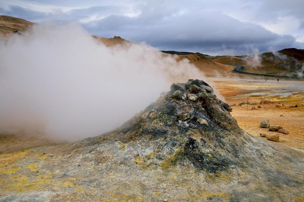 cheminée, Namajfall, Islandee