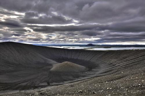 Cratère, Hverfjall, Hverfell, Myvatn, Islande