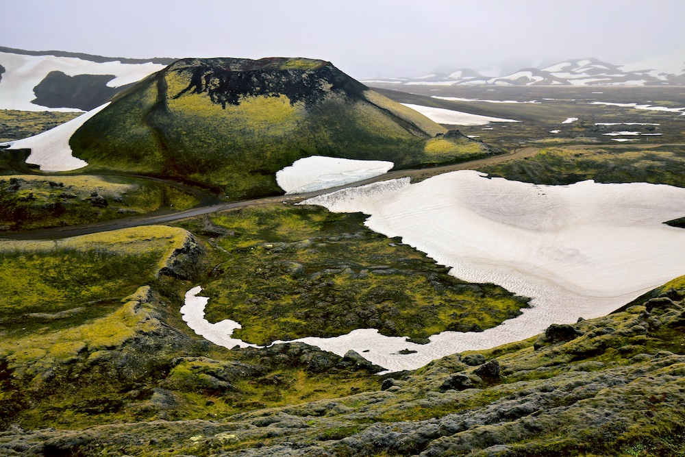 Stútur, crater, volcano, Landmannalaugar, Islande