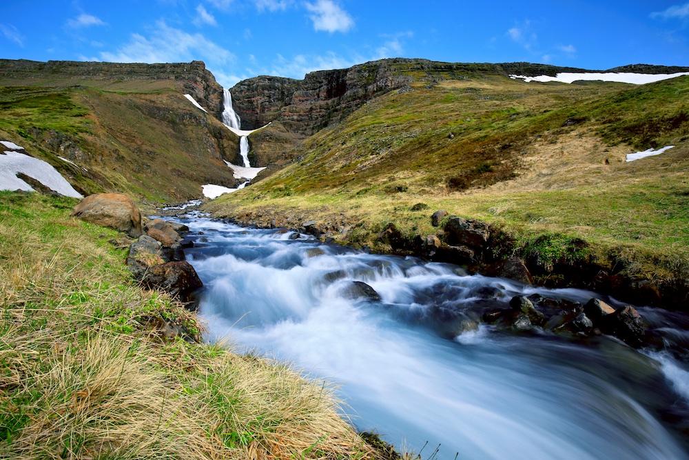 cascade, Islande, route 60