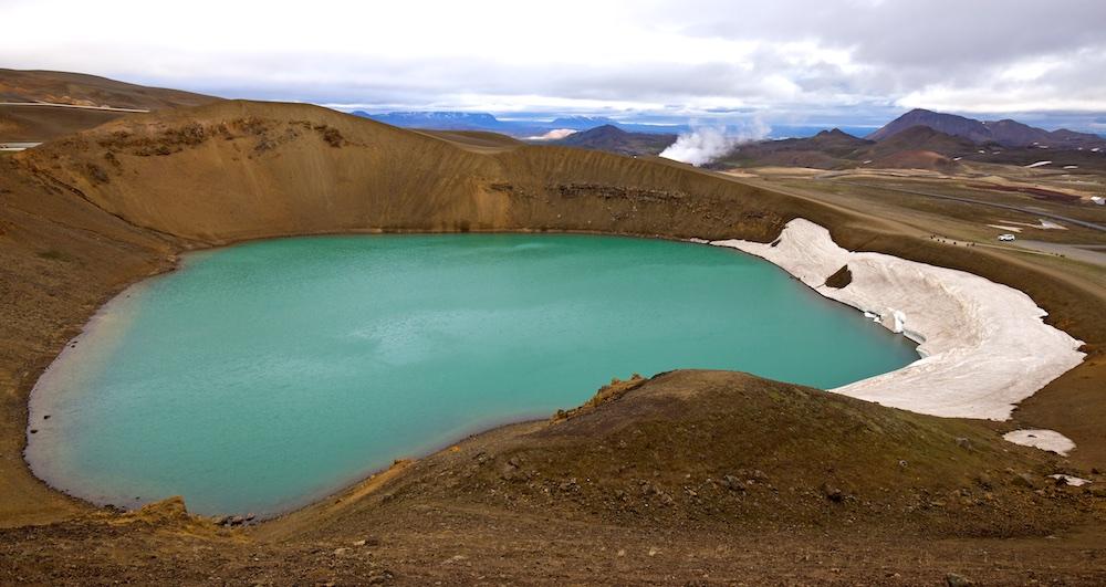 Cratère, Viti, Islande