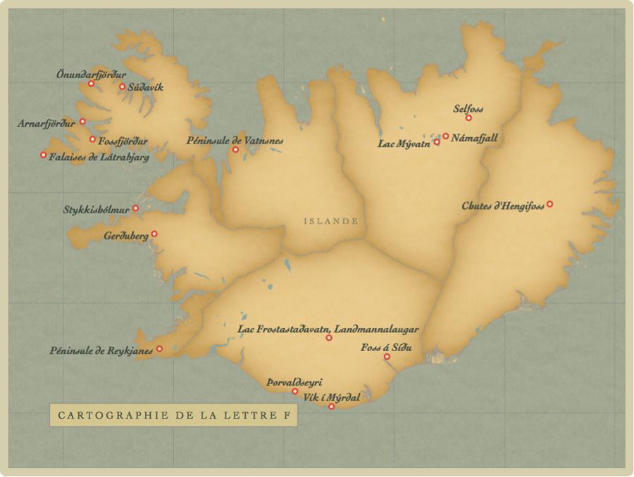 carte, Islande