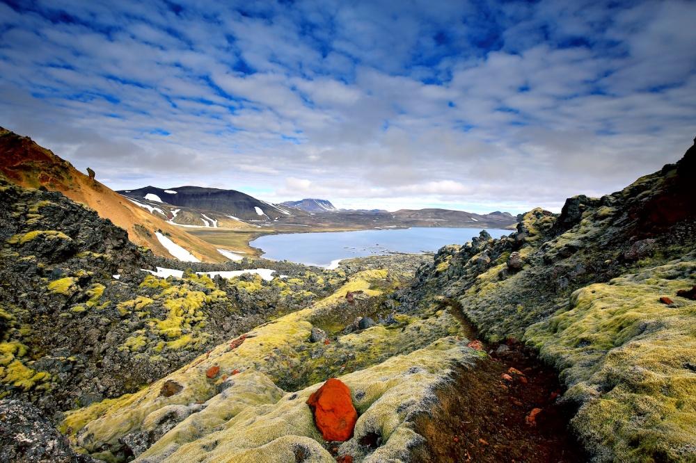 paysage, Islande, lac, Frostastadavatn, Landmannalaugar