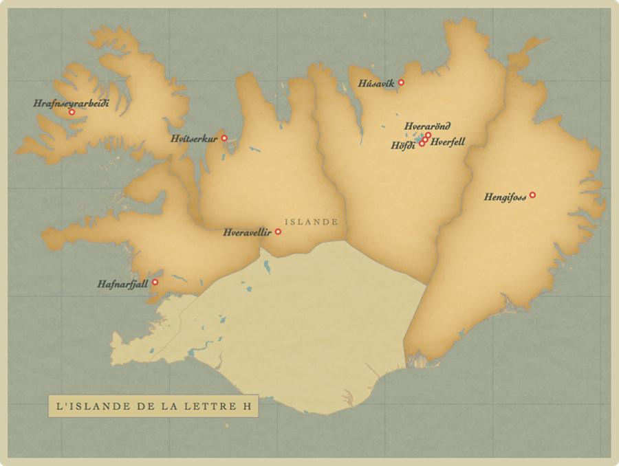 carte, Islande, H