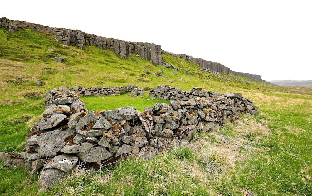 Gerduberg, basalte, Islande, paysage