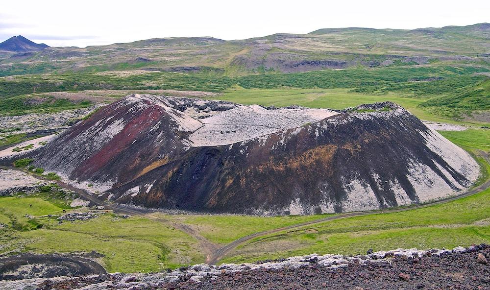 Grabrokarfell, Grabrok, volcan, Islande