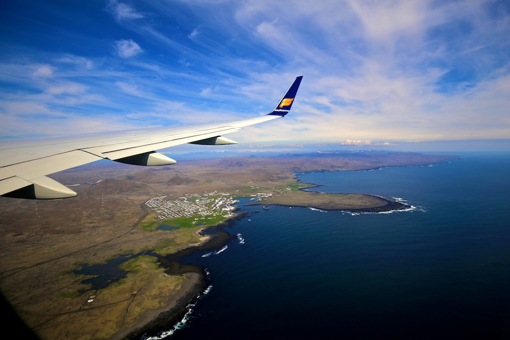 Grindavik, avion, Islande, paysage