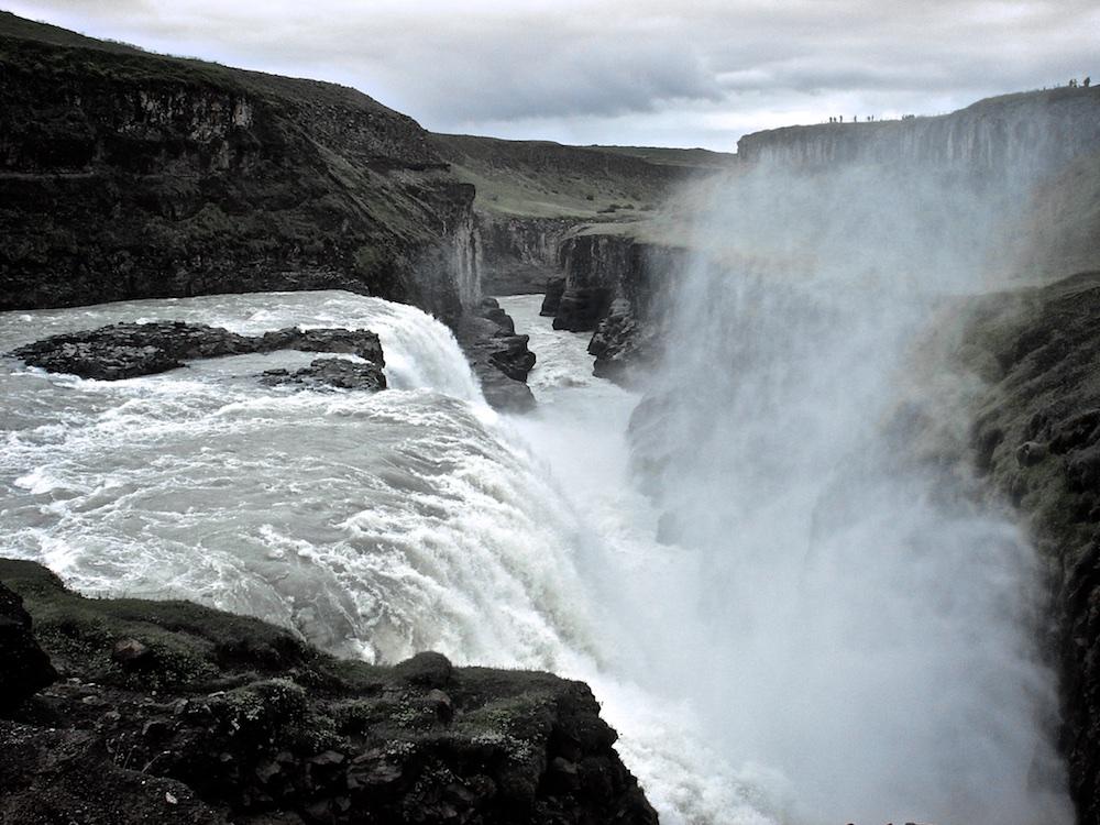 Gullfoss, cascade, canyon, Islande
