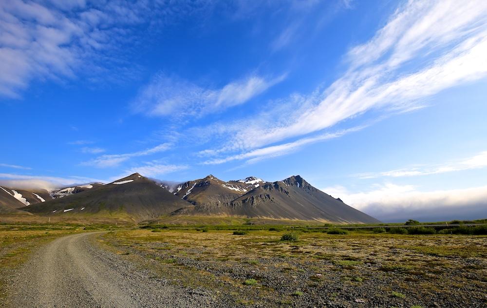 Hafnarfjall, paysage