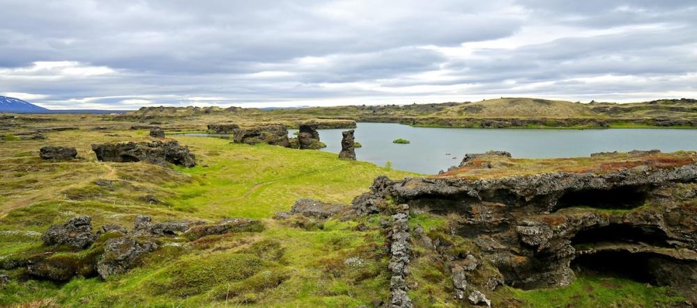 Hofdi, paysage, Myvatn, Islande