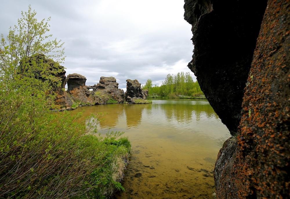 Hofdi, lave, Myvatn, Islande