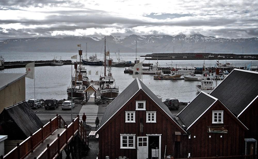 Husavik, port, Islande