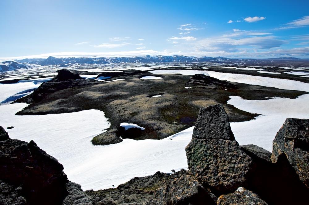 volcan, Strytur, paysage, Islande