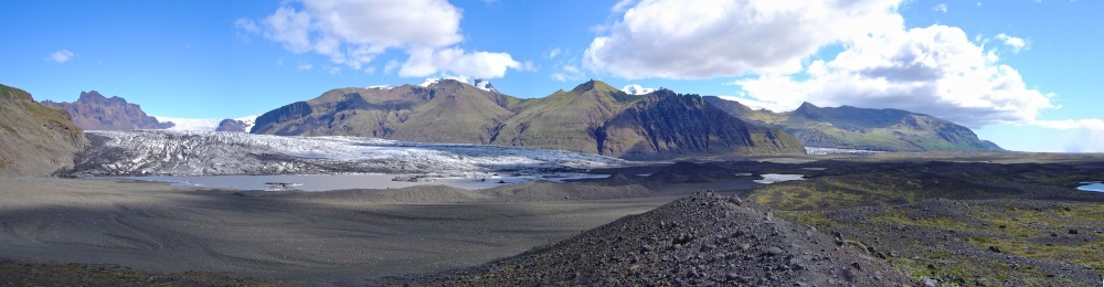 front glaciaire, Skaftafellsjokull, glacier, Islande