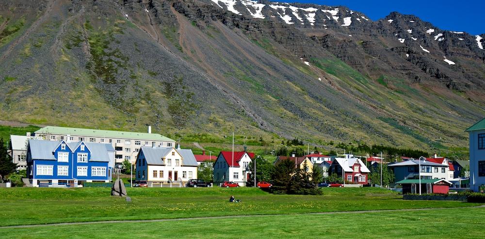 Isafjordur, ville, Islande