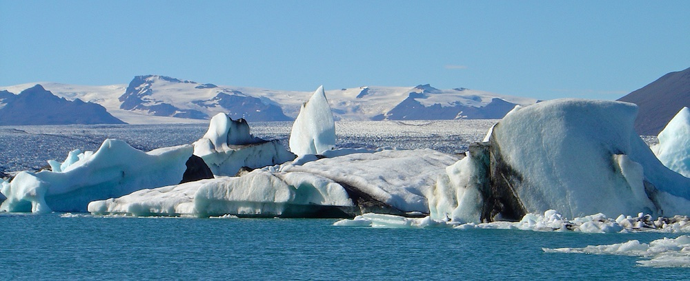 iceberg, lac, jokulsarlon, Islande, paysages