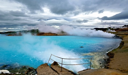Myvatn, paysages, Bjarnarflag, géothermie, Islande