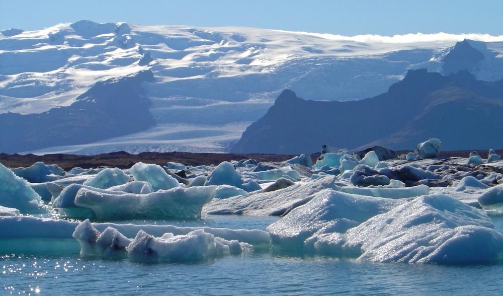 fonte, glacier, Islande