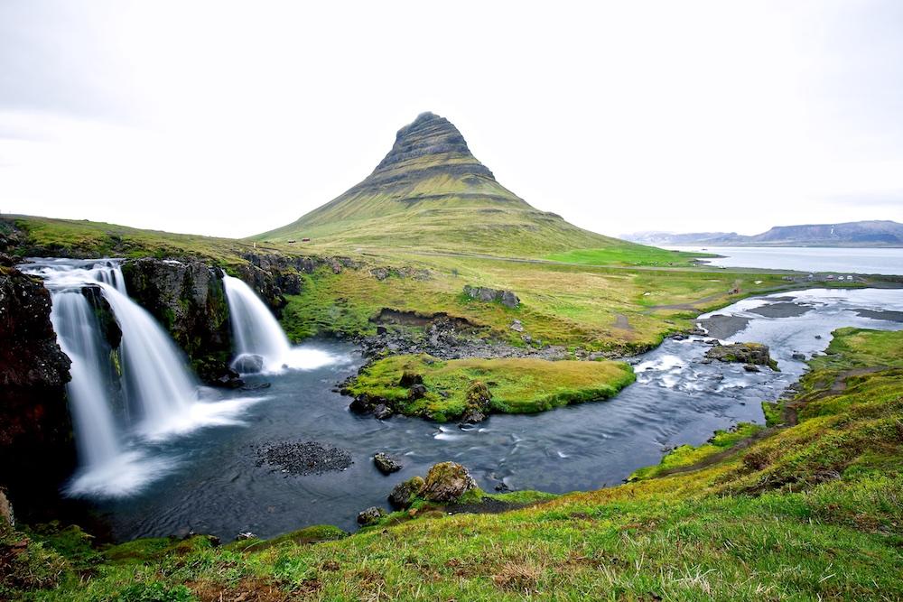 Kirkjufell, Kirkjufellsfoss, paysages, Islande