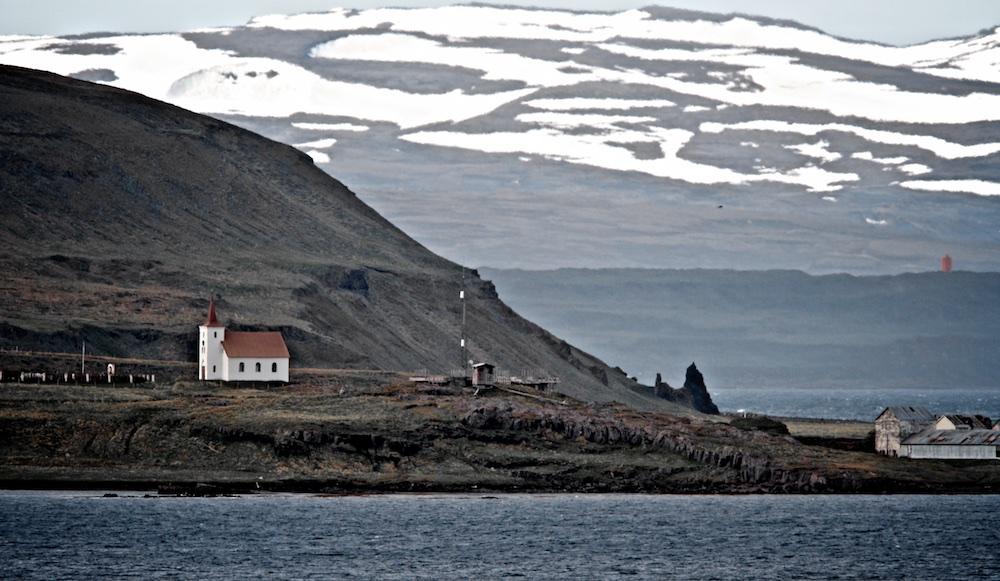 Kollafjardarnes, eglise, Islande, paysages